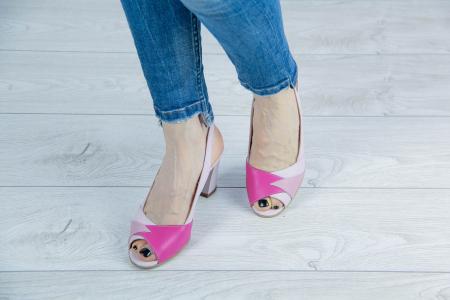 Sandale din piele naturala roz pudra MSSD3420-20 [2]