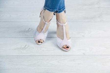 Sandale din piele naturala roz pudra MSSD5920-20 [1]