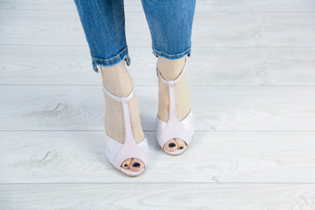 Sandale din piele naturala roz pudra MSSD5920-20 [2]