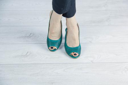 Sandale din piele naturala verde laserata MSSD4218L3-6-20 [1]
