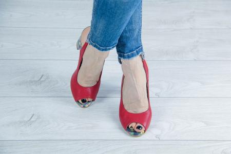 Sandale din piele rosie MSSD0619-2-20 [1]