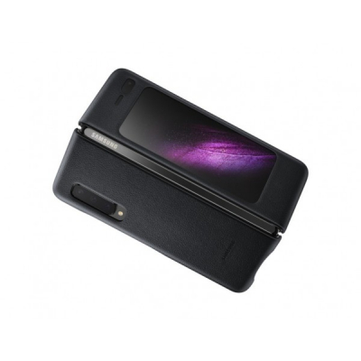 Husa de protectie Samsung Galaxy Fold, Leather Cover1