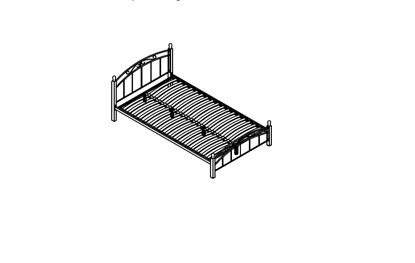 pat 140x200 metal cu lemn
