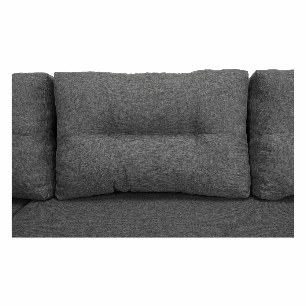 Coltar ,canapea universala reversibila,extensibil, stofa,96 gri inchis / 90 gri, 314x75/85x153/211 cm, ANISIA M 22