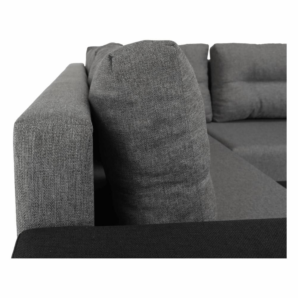 Coltar ,canapea universala reversibila,extensibil, stofa,96 gri inchis / 90 gri, 314x75/85x153/211 cm, ANISIA M 20
