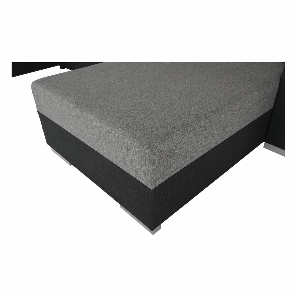 Coltar ,canapea universala reversibila,extensibil, stofa,96 gri inchis / 90 gri, 314x75/85x153/211 cm, ANISIA M 17