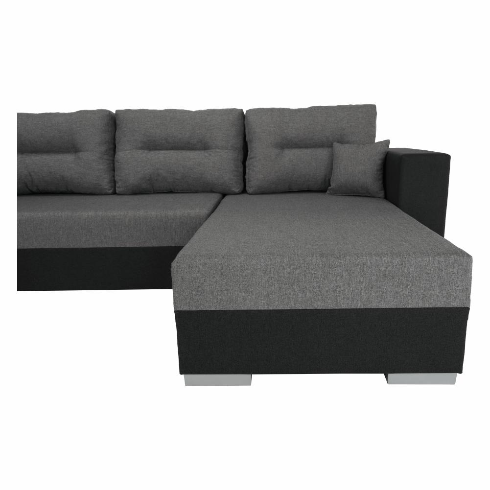 Coltar ,canapea universala reversibila,extensibil, stofa,96 gri inchis / 90 gri, 314x75/85x153/211 cm, ANISIA M 16