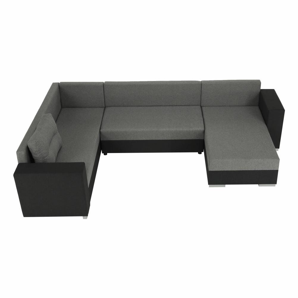 Coltar ,canapea universala reversibila,extensibil, stofa,96 gri inchis / 90 gri, 314x75/85x153/211 cm, ANISIA M 13