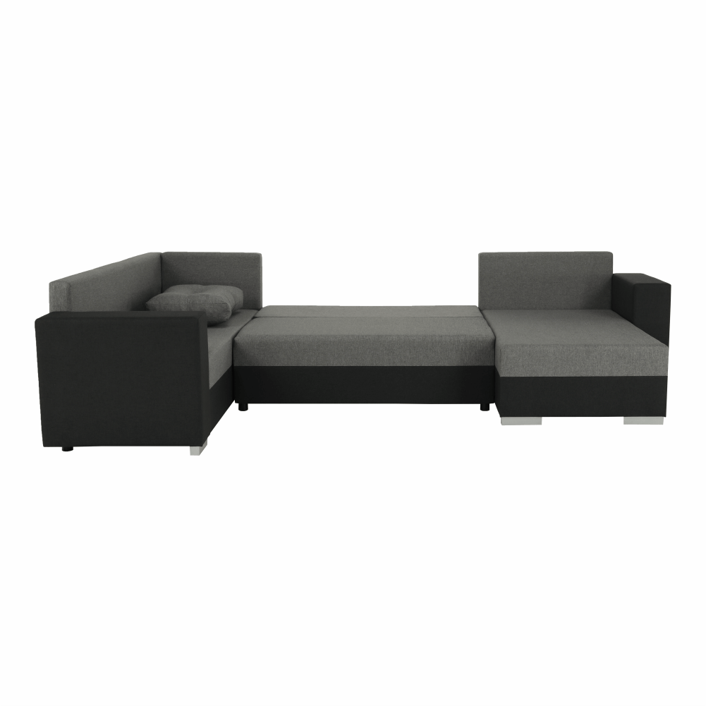 Coltar ,canapea universala reversibila,extensibil, stofa,96 gri inchis / 90 gri, 314x75/85x153/211 cm, ANISIA M 11