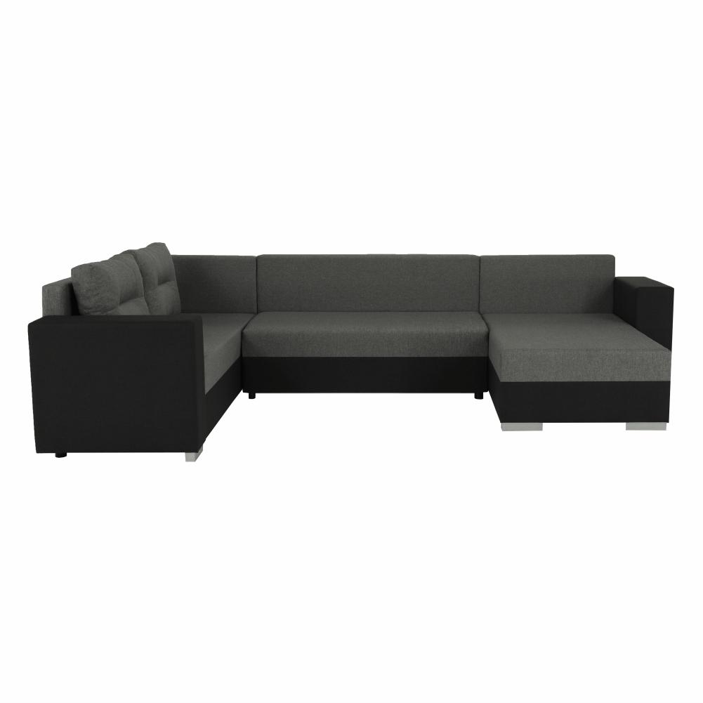 Coltar ,canapea universala reversibila,extensibil, stofa,96 gri inchis / 90 gri, 314x75/85x153/211 cm, ANISIA M 10