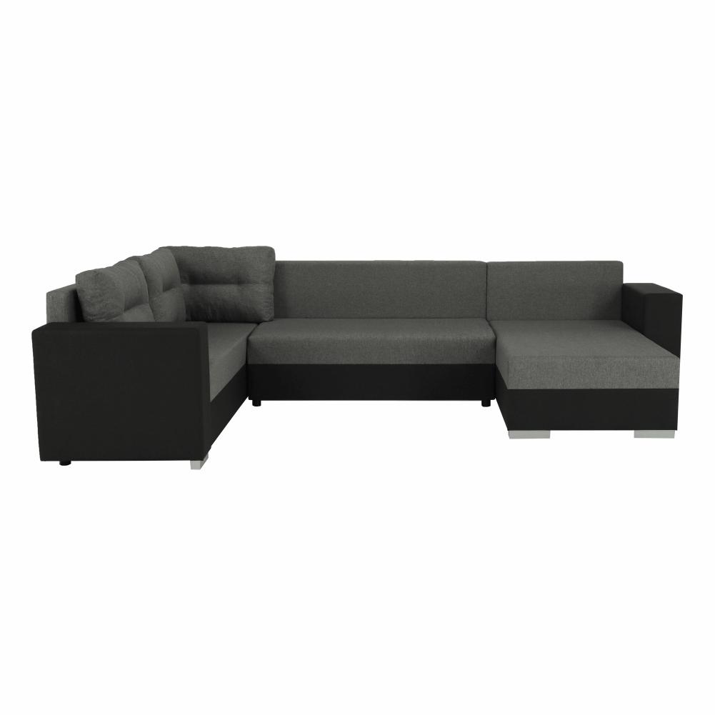 Coltar ,canapea universala reversibila,extensibil, stofa,96 gri inchis / 90 gri, 314x75/85x153/211 cm, ANISIA M 9