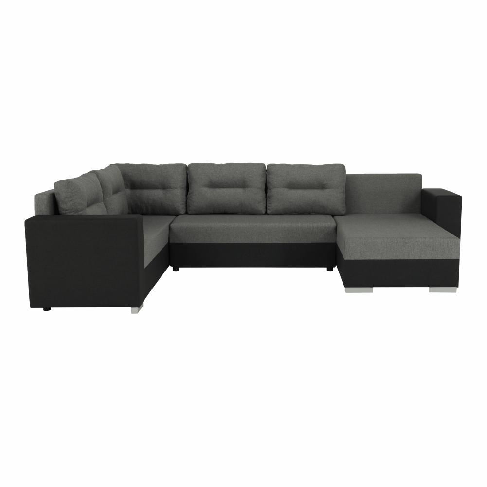 Coltar ,canapea universala reversibila,extensibil, stofa,96 gri inchis / 90 gri, 314x75/85x153/211 cm, ANISIA M 8