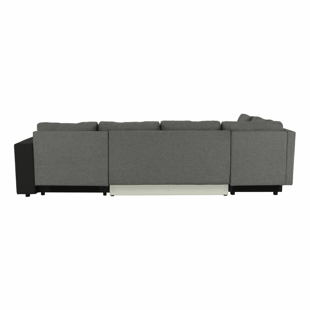 Coltar ,canapea universala reversibila,extensibil, stofa,96 gri inchis / 90 gri, 314x75/85x153/211 cm, ANISIA M 7