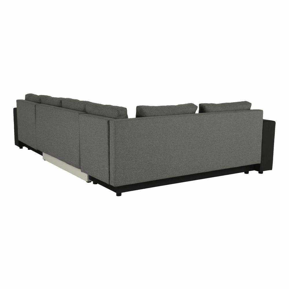 Coltar ,canapea universala reversibila,extensibil, stofa,96 gri inchis / 90 gri, 314x75/85x153/211 cm, ANISIA M 5