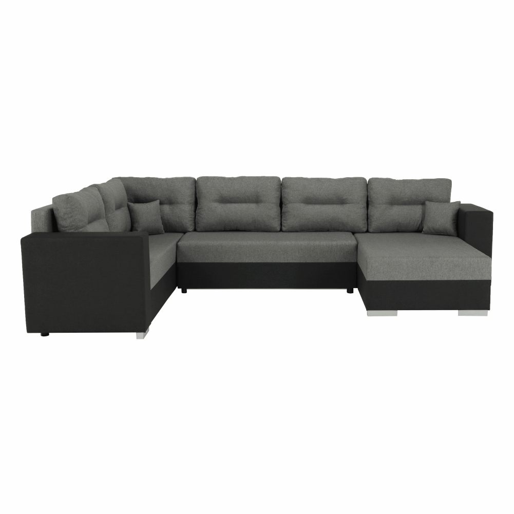 Coltar ,canapea universala reversibila,extensibil, stofa,96 gri inchis / 90 gri, 314x75/85x153/211 cm, ANISIA M 3