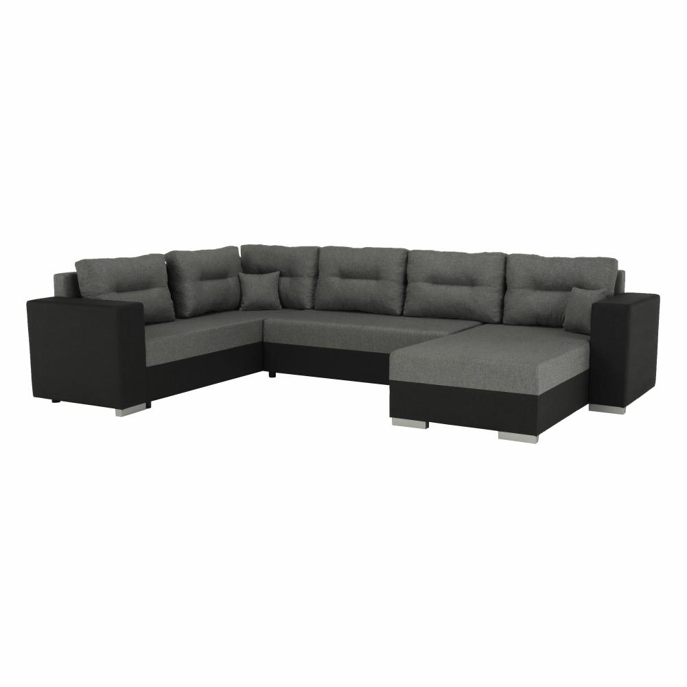 Coltar ,canapea universala reversibila,extensibil, stofa,96 gri inchis / 90 gri, 314x75/85x153/211 cm, ANISIA M 0