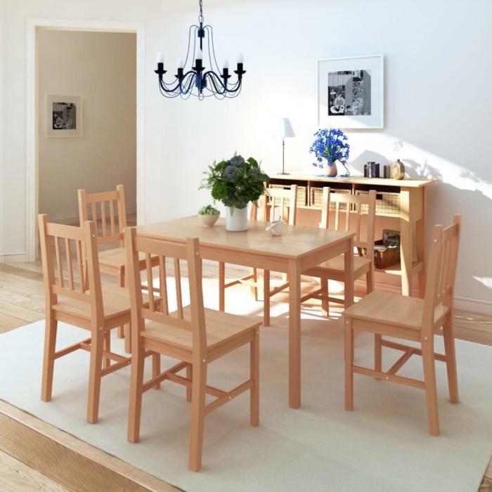 Set masa si scaune ,6+1,dining,pin,mobHAUS 1