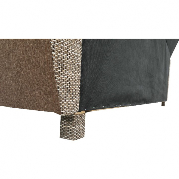 Canapea cu trei locuri, extensibilă, maro, MILO 3 locuri 3