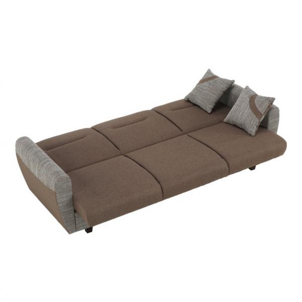 Canapea cu trei locuri, extensibilă, maro, MILO 3 locuri 8