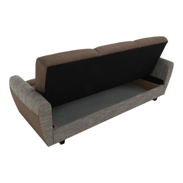 Canapea cu trei locuri, extensibilă, maro, MILO 3 locuri 5
