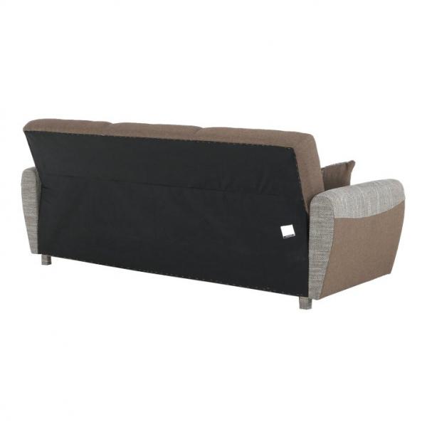 Canapea cu trei locuri, extensibilă, maro, MILO 3 locuri 10