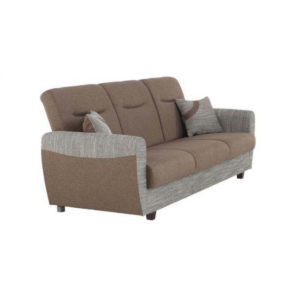 Canapea cu trei locuri, extensibilă, maro, MILO 3 locuri 9
