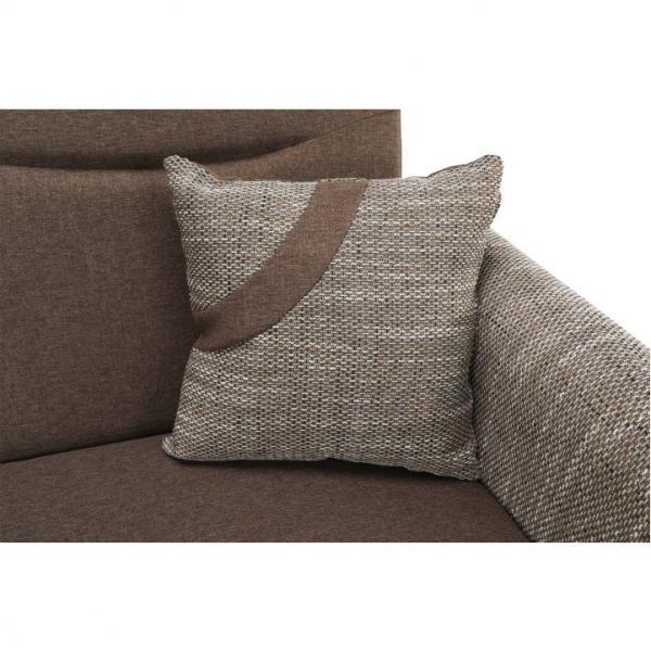 Canapea cu trei locuri, extensibilă, maro, MILO 3 locuri 4