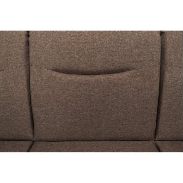 Canapea cu trei locuri, extensibilă, maro, MILO 3 locuri 2