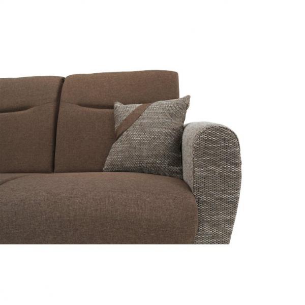 Canapea cu trei locuri, extensibilă, maro, MILO 3 locuri 6