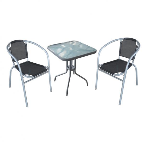 set gradina masa plus doua scaune arginti,gri 0