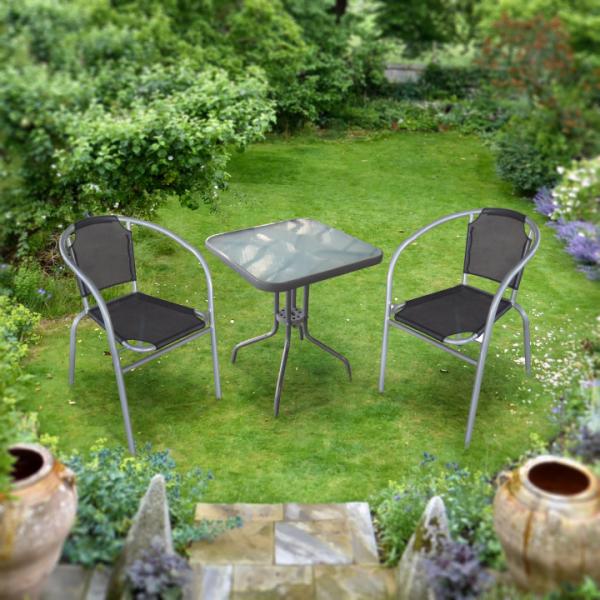 set gradina masa plus doua scaune arginti,gri 2