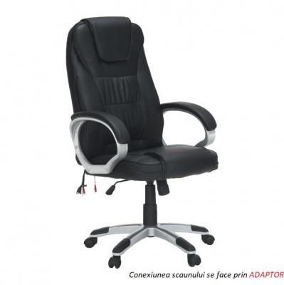 Scaun birou cu funcţie de masaj, negru, TYLER UT-C2652M0