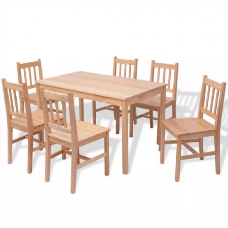Set masa si scaune ,6+1,dining,pin,mobHAUS0