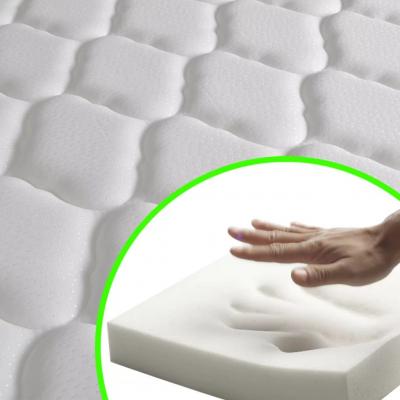Pat cu saltea si somiear incluse, negru / alb, 180 x 200 cm, piele artificială,6FT Super King8