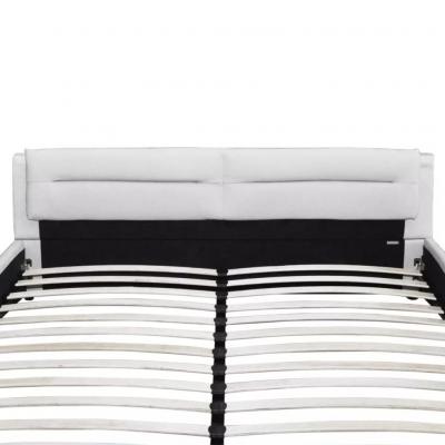 Pat cu saltea si somiear incluse, negru / alb, 180 x 200 cm, piele artificială,6FT Super King4