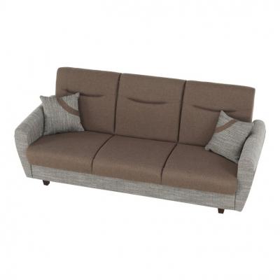 Canapea cu trei locuri, extensibilă, maro, MILO 3 locuri13