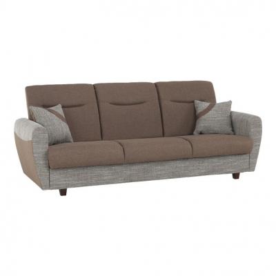 Canapea cu trei locuri, extensibilă, maro, MILO 3 locuri0