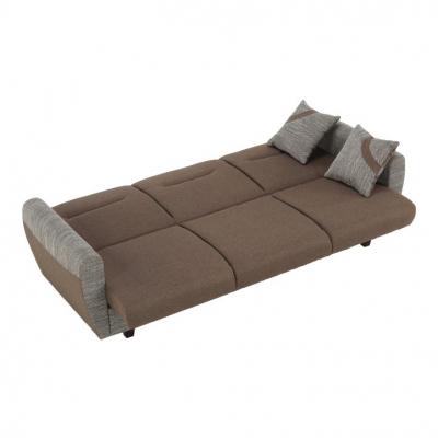Canapea cu trei locuri, extensibilă, maro, MILO 3 locuri8