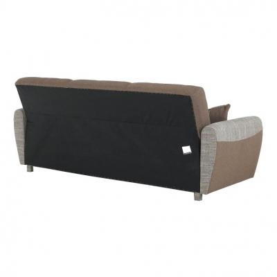 Canapea cu trei locuri, extensibilă, maro, MILO 3 locuri10