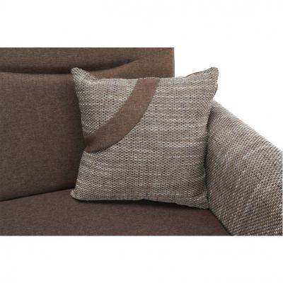 Canapea cu trei locuri, extensibilă, maro, MILO 3 locuri4