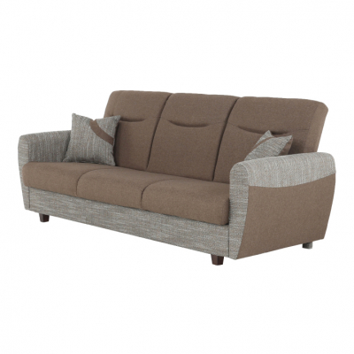 Canapea cu trei locuri, extensibilă, maro, MILO 3 locuri12