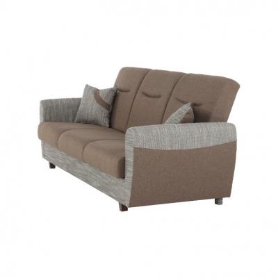 Canapea cu trei locuri, extensibilă, maro, MILO 3 locuri11