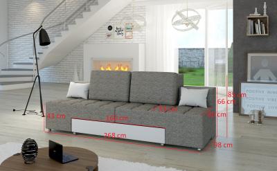 Canapea extensibila, material textil ,piele ecologica , ATLANTICO2
