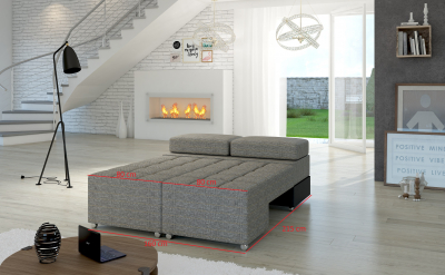 Canapea extensibila, material textil ,piele ecologica , ATLANTICO3