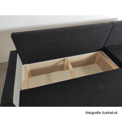 Coltar universal, negru/gri, 219x139x78/86 cm, PAULITA4