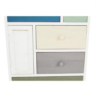 Comodă, albă/sertare colorate, MONET 1 [2]