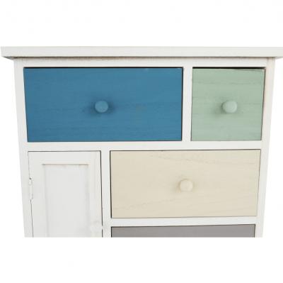 Comodă, albă/sertare colorate, MONET 1 [15]