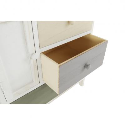 Comodă, albă/sertare colorate, MONET 1 [19]