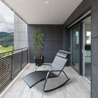 Fotoliu balansoar de gradina, gri,70x88x132 cm , ELVIO2