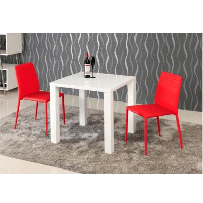 Masa dining, alb extra lucios HG,80x76x80 cm, ASPER NEW TYP 51